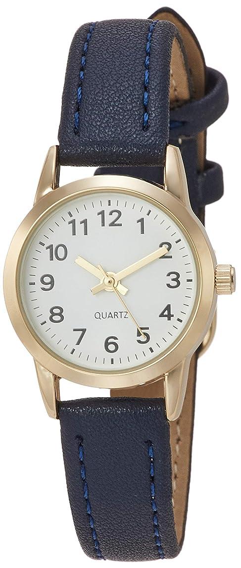 緊急九月自動的に[フィールドワーク] 腕時計 アナログ カフェプチ 革ベルト CL12-4 レディース ネイビー