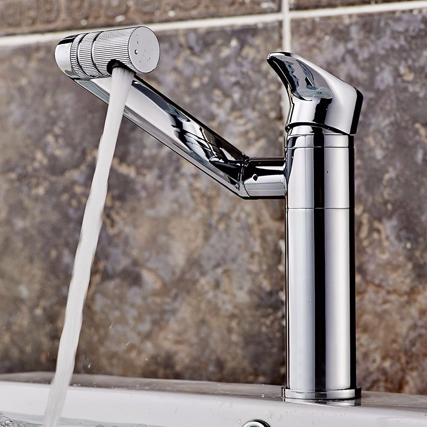 LHbox Basin Mixer Tap Bathroom Sink Faucet Basin cold water tap to redate the single hole basin mixer hand washing your face, standard)
