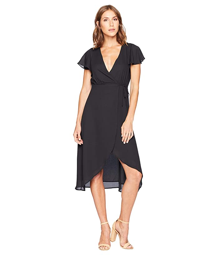 2ad9a033a56aa American Rose Elodie Ruffle Sleeve Midi Dress at Zappos.com