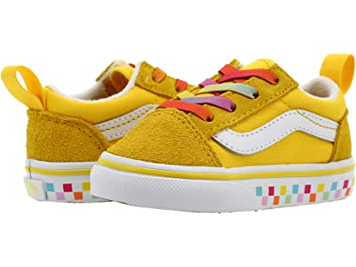 Vans Kids Old Skool Elastic Lace (Infant/Toddler) ( Girl