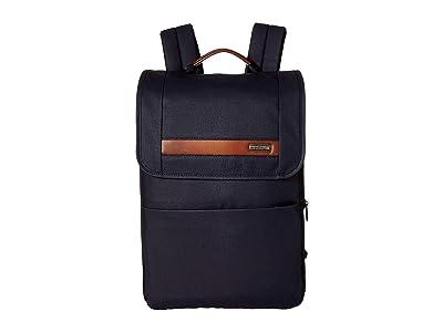 Briggs & Riley Kinzie Street Slim Expandable Backpack (Navy) Backpack Bags