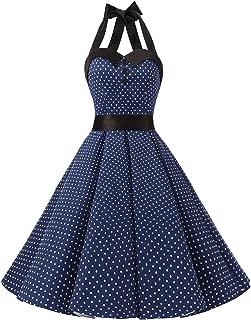 Vintage Polka Dot Retro Cocktail Prom Dresses 50's 60's Rockabilly Bandage