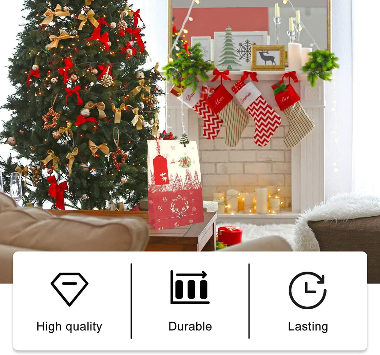 Hook 24 Adventskalender S/äckchen Gro/ß Stoffbeutel XL Adventskalender zum Selbst Bef/üllen Geschenks/äckchen 1-24 Adventszahlen Aufkleber Weihnachtskalender zum bef/üllen f/ür M/änner Kinder