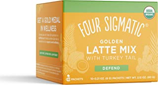 Four Sigmatic Golden Latte, Organic Instant Golden Latte with Shiitake Mushroom, Turmeric & Coconot Milk Powder, Supports ...