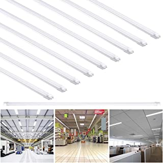 Yescom 4Ft T8 LED Tube 6500K Fluorescent Tube Retrofit Replacement, Milky Cover Dual-Ended