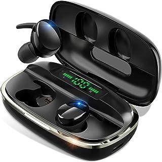 【次世代 最新Bluetooth5.1技術 瞬時接続】 Bluetooth イヤホン Hi-Fi高音質 蓋を開けたら接続 LEDデジタル残量表示 4000mAh充電ケース付 自...