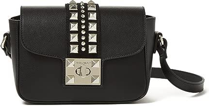 Valentino by Mario Valentino Palmellato Yasmine Leather Shoulder Bag - Black