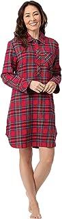 Women's Sleep Shirt Plaid - Sleepshirt Womens