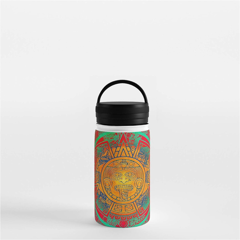 Society6 Aztec Sun God by Klara Acel 356 Max 71% Store OFF 12 - Water Bottle oz on