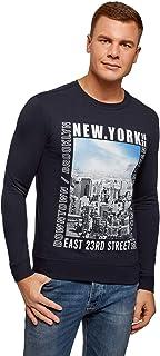 oodji Ultra Men's Cotton Sweatshirt with Print