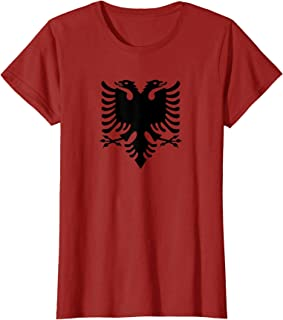 Womens Albania Shirt Independence Day National Flag Albanian Eagle T-Shirt
