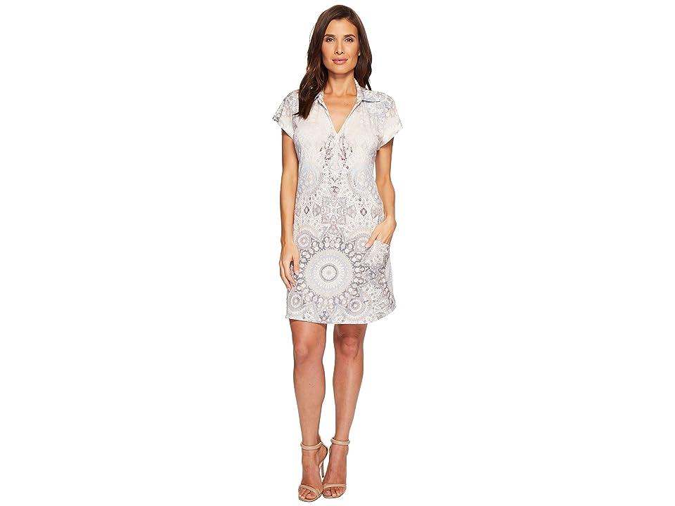 Hale Bob Room To Glow Matte Microfiber Jersey Dress (Beige) Women