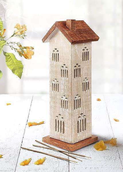 Storeindya Wooden Incense Cone Tower Burner Stand Holder Ash Catcher Design 9
