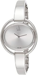 Calvin Klein Womens Quartz Watch, Analog Display and Stainless Steel Strap K4F2N116-