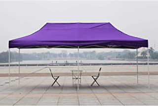 American Phoenix Canopy Tent 10x20 Ez Pop Up Instant Shelter Shade Heavy Duty Commercial Outdoor Party Tent (10x20FT (White Frame), Purple)