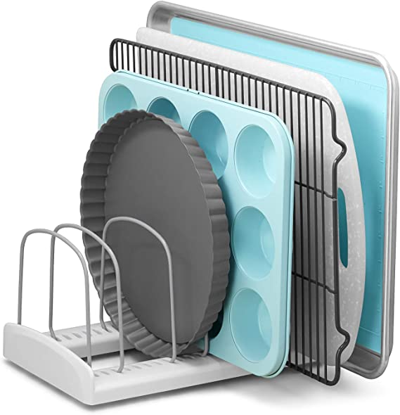 YouCopia 50158 StoreMore Adjustable Bakeware Rack Pan Organizer