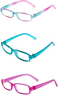 "Three Pairs Multicolored Reading Glasses | Fits 18"" American Girl Dolls, Madame Alexander, Our Generation, etc. 
