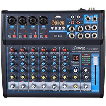 3-Band EQ Phenyx Pro PTX-10 Ideal for Webcasting Portable USB Powered Music Production w//USB Audio Interface and Built-in DSP for Mac//PC//PS4 4-Input Audio Recording Mixer Preamp Gaming