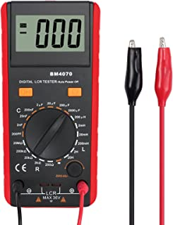 Proster LCR Meter LCR Multimeter Capacitance Inductance Resistance Tester Multimeter Self-discharge with Overrange Display