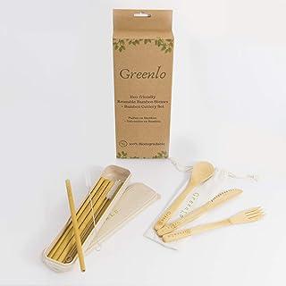10 Pailles Reutilisables En Bambou. Alternative Au Plastique, Inox, Verre, Zero Dechet. Paille Reutilisable Idéale Pour Bo...