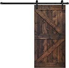 Sponsored Ad - 42inX84in K Series Kona Coffee DIY Solid Interior Knotty Wood Painted Barn Door with 8 FT Sliding Hardware Kit