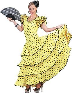 Das Kostümland Flamenco Kleid zum Samba Kostüm für Damen - Tolles Spanierin Brasilianerin Tänzerin Kleid