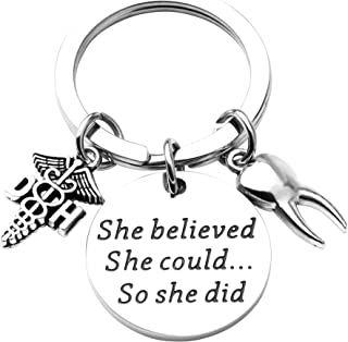 Dental Hygienist Gifts She Believed She Could So She Did Keychain Dentist Jewelry Graduation Gift For DH