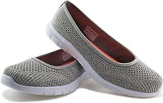 Women Slip on Loafers Breathable Knit Flat Walking Shoes