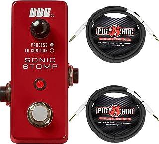 BBE MS 92 Mini Sonic Stomp Maximizer Guitar Effects Pedal, Pig Hog PH10 10? 1/4
