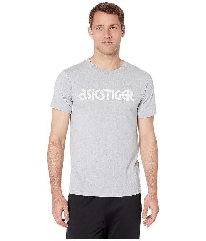 ASICS Tiger Wave Short Sleeve Tee (Mid Grey Heather) Men