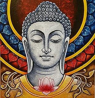 Painting Diamonds Buddha,DIY 5D Diamond Painting by Number Kit, Full Drill Diamond Rhinestone Embroidery Cross Stitch Kits...