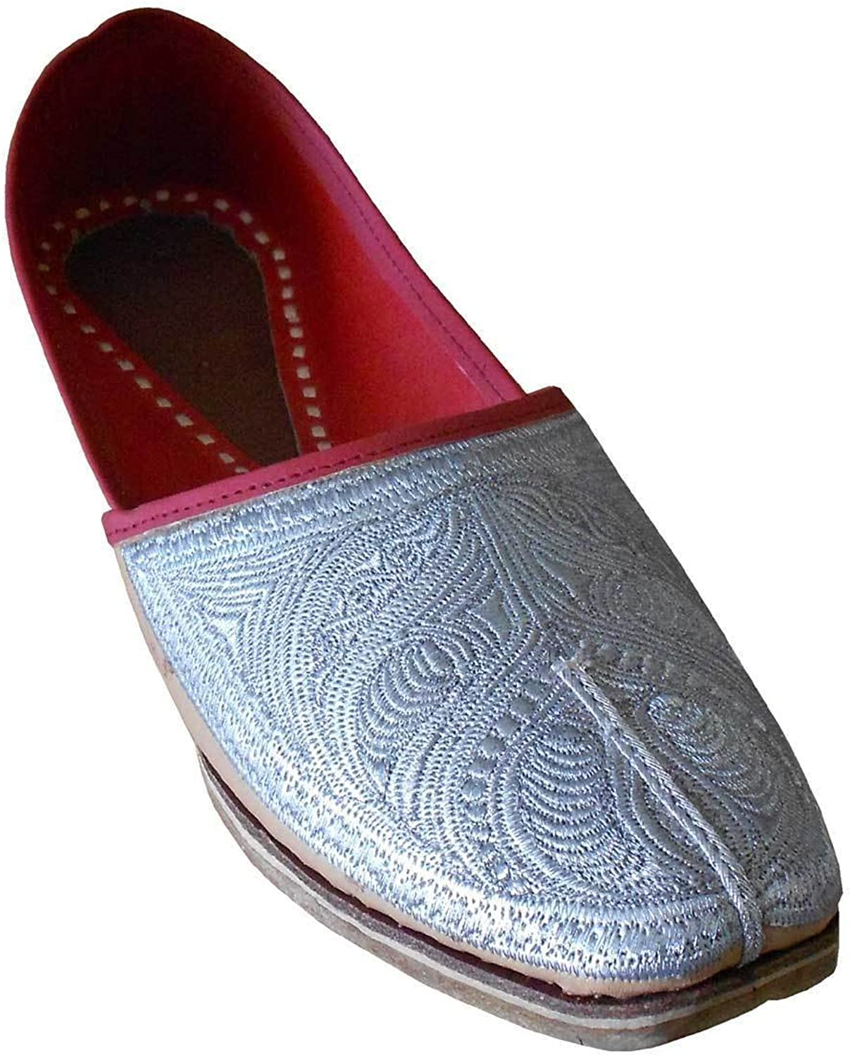 Kalra Creations Men's Traditonal Indian Faux Leather with Embroidery Designer shoes