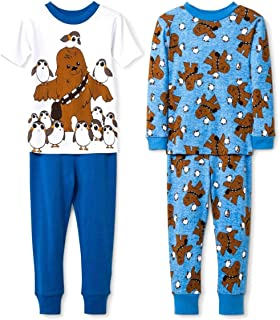 Star Wars Toddler Boy's Chewbacca and PORG Penguins 4-Piece Pajama Set (4T)