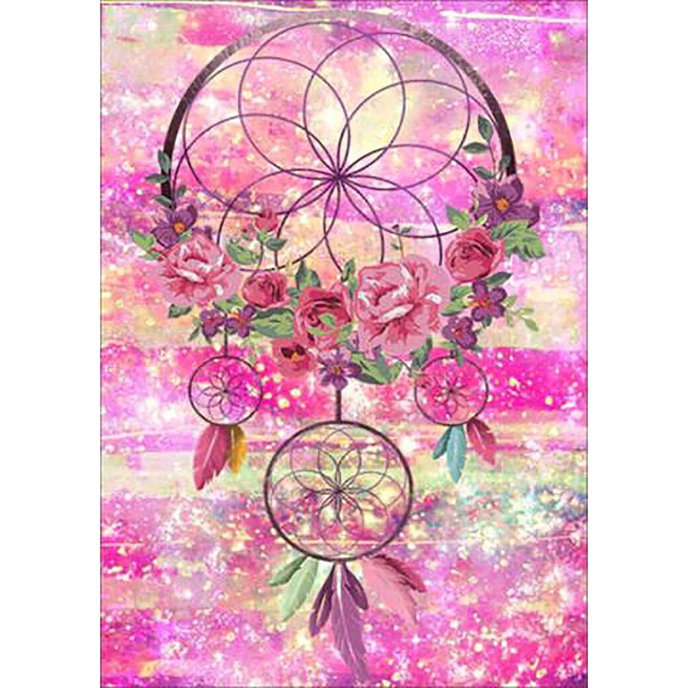 DIY 5D Diamond Painting by Number Kits, Full Drill Crystal Rhinestone Embroidery Pictures Arts Craft for Home Wall Decor Gift,Dream Catcher