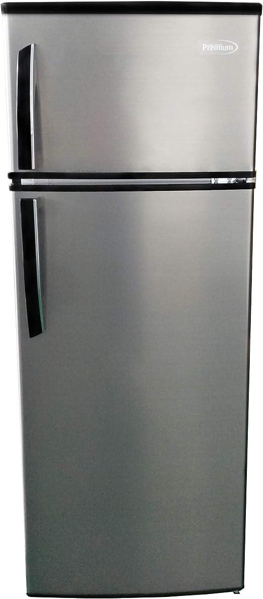 Amazon Com Premium Prf736hs 7 4 Cu Ft Refrigerator With Top Freezer Stainless Steel Appliances