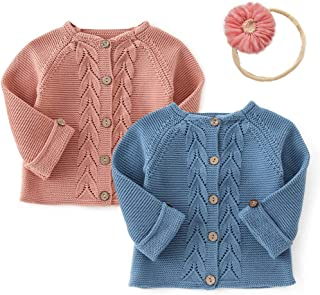 Simplee kids Baby Toddler Girl Autumn Winter and Fall Cardigan Sweater for 3-24 Months