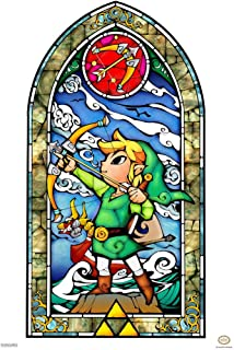 Pyramid America Legend of Zelda Stained Glass Bow Video Game Gaming Laminated Dry Erase Sign Poster 12x18