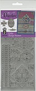 Hot Off The Press Dazzles Stickers -Silver Celtic
