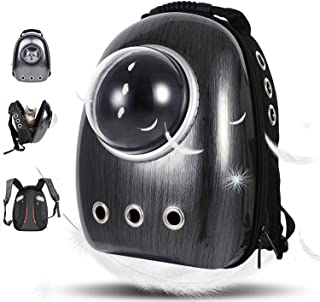 HoldPeak Portable Travel Pet Carrier Bubble Backpack for Dog and Cat Dome Airline Approved Space Capsule Waterproof Knapsa...
