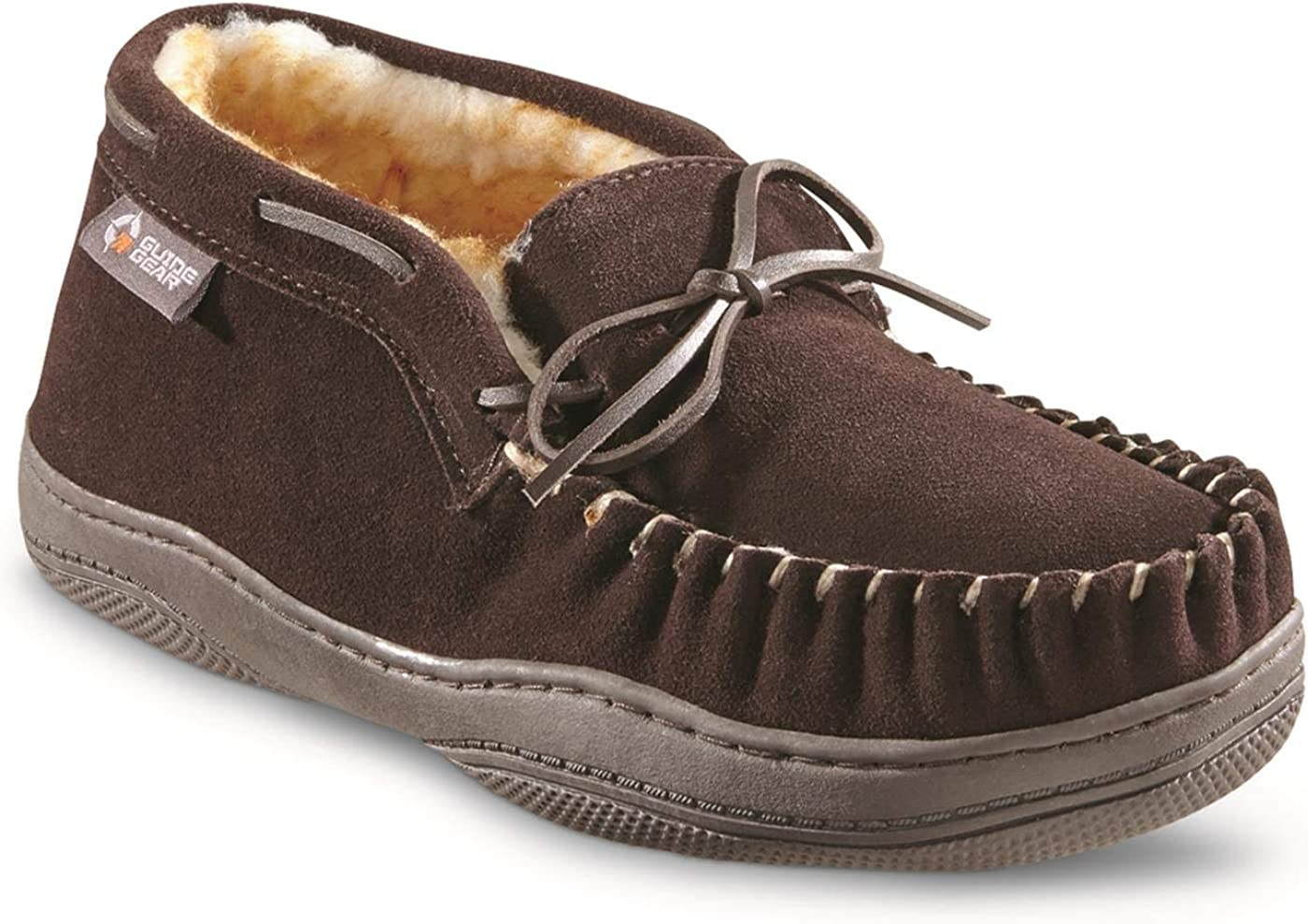 Safety and trust Guide Gear Men's Suede Chukka SEAL limited product Slippers Moccasin