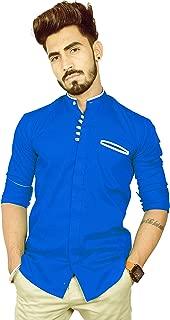 REBANTA Shirt for Men Royal Blue Plain