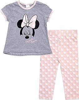 Disney Baby Girls' T-Shirt & Leggings Set: Minnie Mouse, Winnie The Pooh, Princess (Newborn/Infant/Toddler)