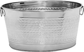 Mr. Ice Bucket Stainless Steel Beer Tub, Large, Chrome