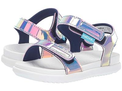 Native Kids Shoes Charley Hologram (Toddler/Little Kid) (Pink Hologram/Shell White) Girl