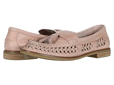 Sperry Seaport Penny PlushWave Woven Leather (Rose Dust) Women