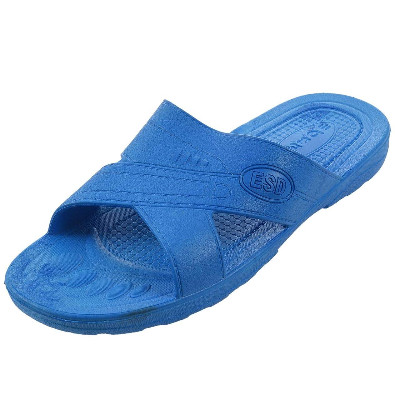 カード立場意識的RETYLY 静電気防止用スリッパ クリーン ダストフリー 保護スリッパ、男性と女性のクリーンな作業靴 柔らかい底46