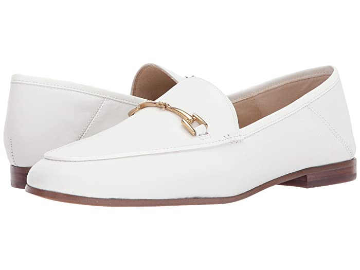 Sam Edelman  Loraine Loafer (Bright White Modena Calf Leather) Womens Dress Sandals