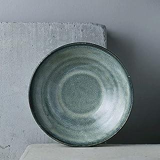 YUP-HU Plate Ceramic Dish Soup Plate Deep Dish Pasta Dish Fruit Salad Dish Kitchen Supplies Dinner Kitchen Household