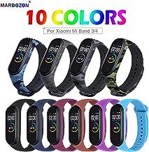 Mardozon Correa para Xiaomi Mi Band 4 / Mi Band 3 Pulsera, Coloridos Reloj Silicona Reemplazar Banda Pulsera para Xiaomi Mi Band 3/4