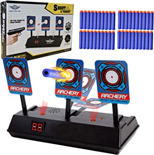 Fstop Labs Electric Targets, Electric Scoring Auto Reset Shooting Digital Target with 40 Pieces Foam Refill Darts for Nerf Guns Blaster, Shooting Games, Party Favors Gift for Kids, Outdoor Toys